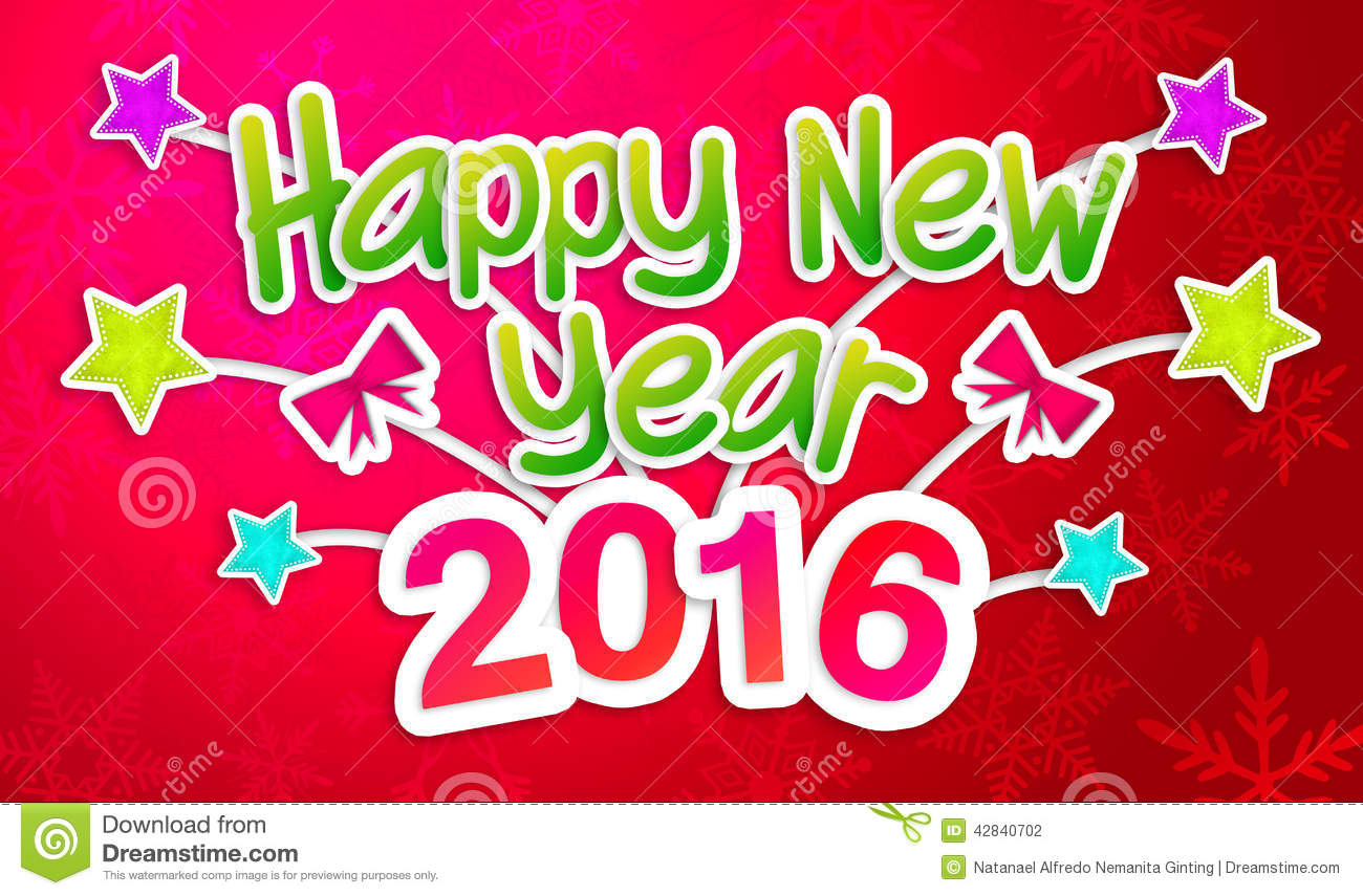 Happy new year 2016 footprints academy happy new year greeting art paper card digital m4hsunfo
